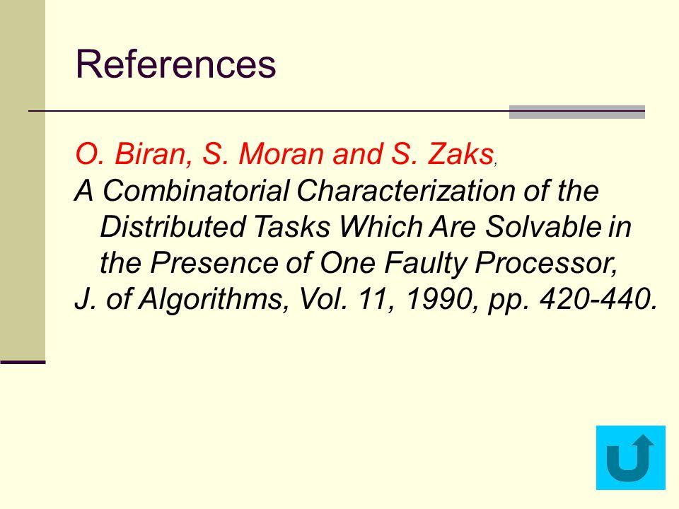 References O.Biran, S. Moran and S.