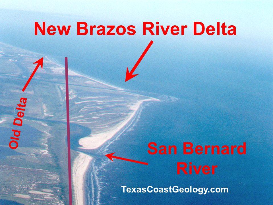 New Brazos River Delta San Bernard River TexasCoastGeology.com Old Delta
