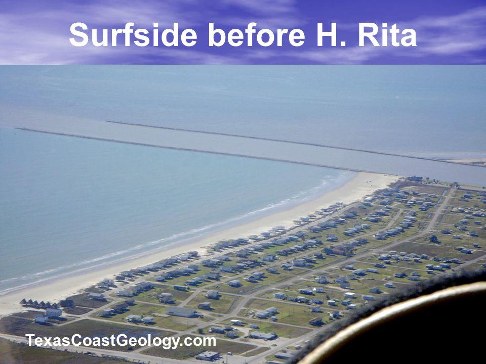 Surfside before H. Rita TexasCoastGeology.com