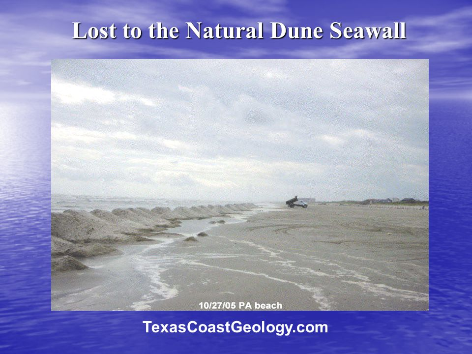 Lost to the Natural Dune Seawall TexasCoastGeology.com