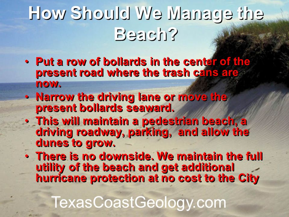 How Should We Manage the Beach.