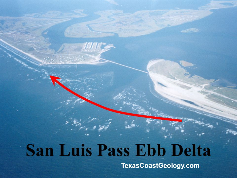 San Luis Pass Ebb Delta TexasCoastGeology.com