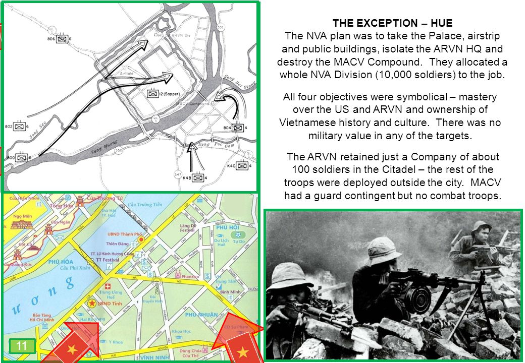 THIS SLIDE AND PRESENTATION WAS PREPARED BY DAVE SABBEN WHO RETAINS COPYRIGHT © ON CREATIVE CONTENT THE EXCEPTION – HUE The NVA plan was to take the P