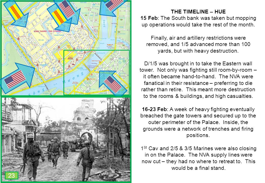 THIS SLIDE AND PRESENTATION WAS PREPARED BY DAVE SABBEN WHO RETAINS COPYRIGHT © ON CREATIVE CONTENT THE TIMELINE – HUE 15 Feb: The South bank was take