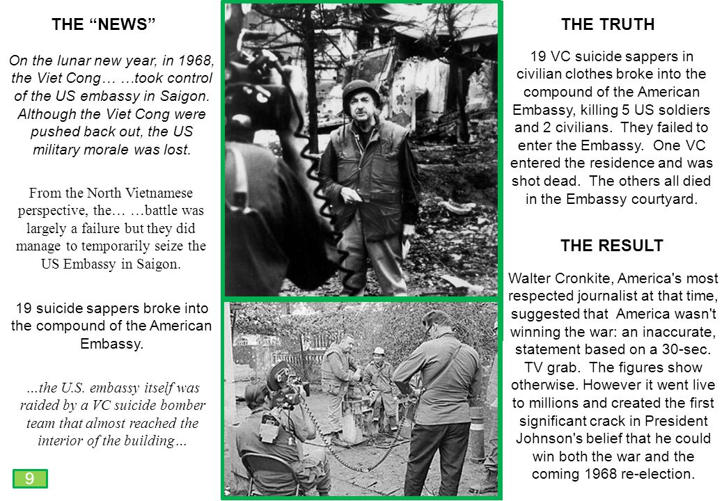 THIS SLIDE AND PRESENTATION WAS PREPARED BY DAVE SABBEN WHO RETAINS COPYRIGHT © ON CREATIVE CONTENT On the lunar new year, in 1968, the Viet Cong… …took control of the US embassy in Saigon.
