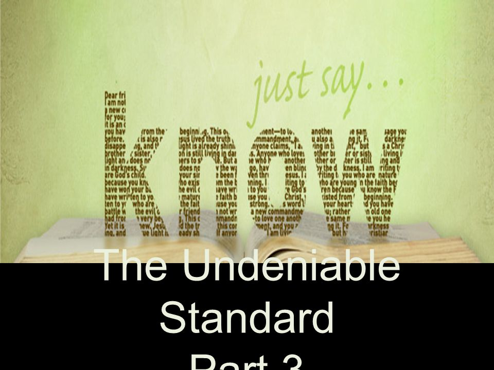 Are we really sure God intended for us to have an inspired, infallible, inerrant standard in our hands.