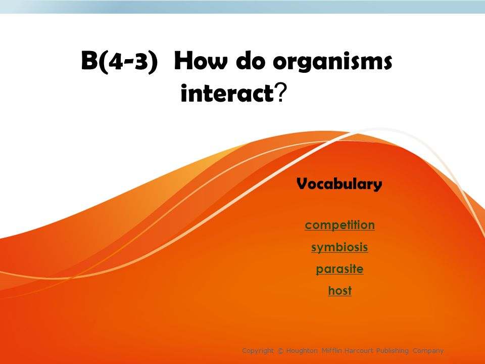 B(4-3) How do organisms interact.