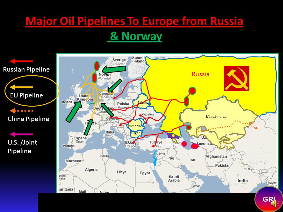 Copyright 2008 Roger K. Young--All Rights Reserved Major Russian Controlled/Owned Pipelines To Europe/China from Russia EU Pipeline Russian Pipeline C
