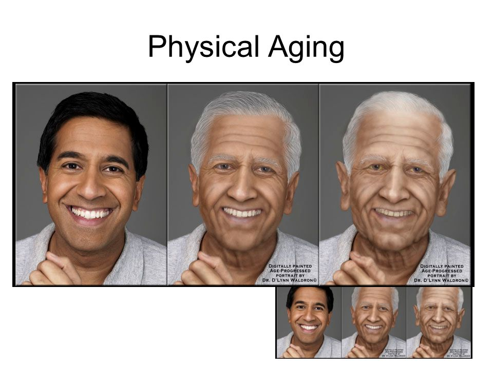 Physical Aging Most people will reach their physical peak in their 20's.