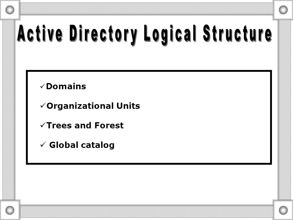  LDAP provides a Way to Communicate with Active Directory by Specifying Unique naming Paths for Each Object in the Directory.  LDAP Naming Paths Inc