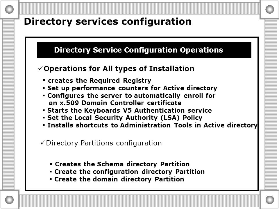 Site Configuration  The Domain Controller is Added to the Site that is Assoctied with its Subnet  The Server is Placed in the Default-First-site-Nam