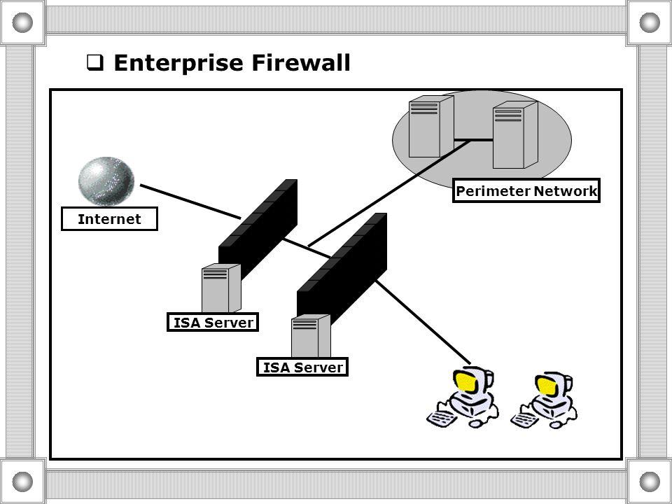  Enterprise Cache Server Cache Internet ISA Server Array Corporate Network