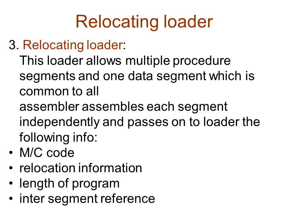Relocating loader 3.