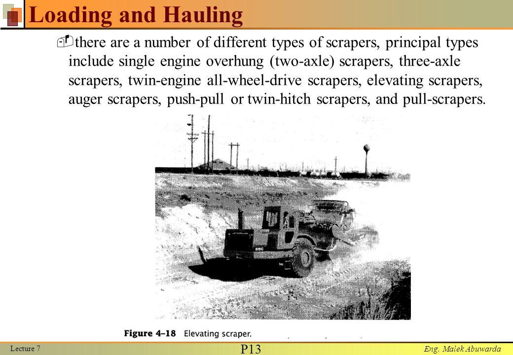 Eng. Malek Abuwarda Loading and Hauling Lecture 7 P14