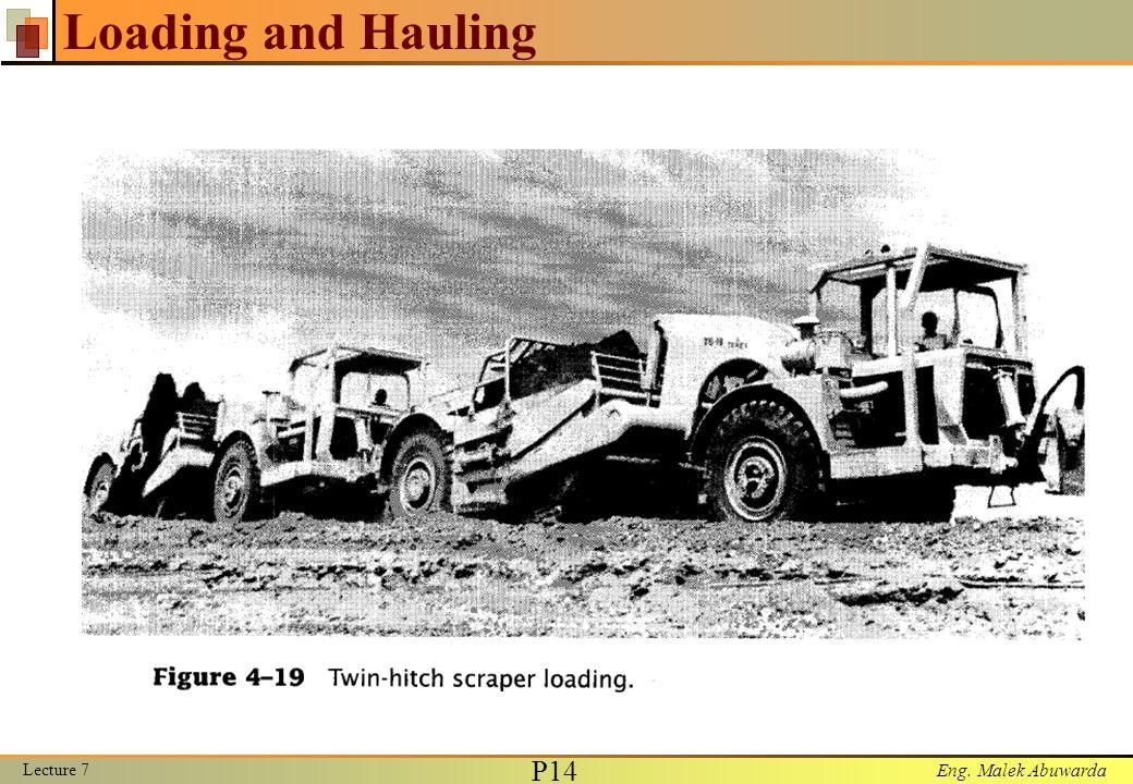 Eng. Malek Abuwarda Loading and Hauling Lecture 7 P15
