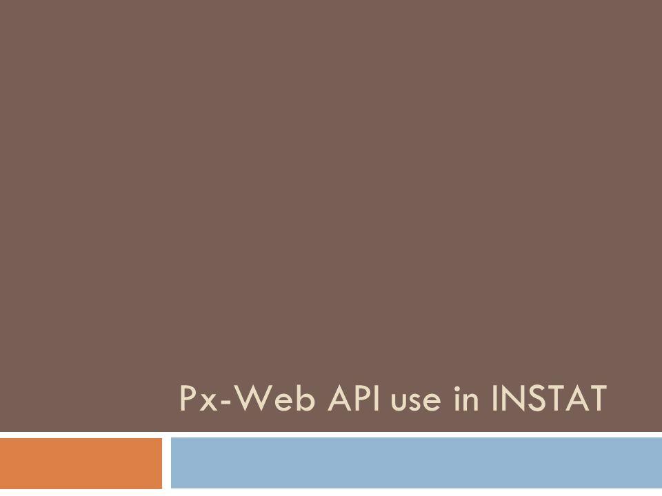 Px-Web API use in INSTAT