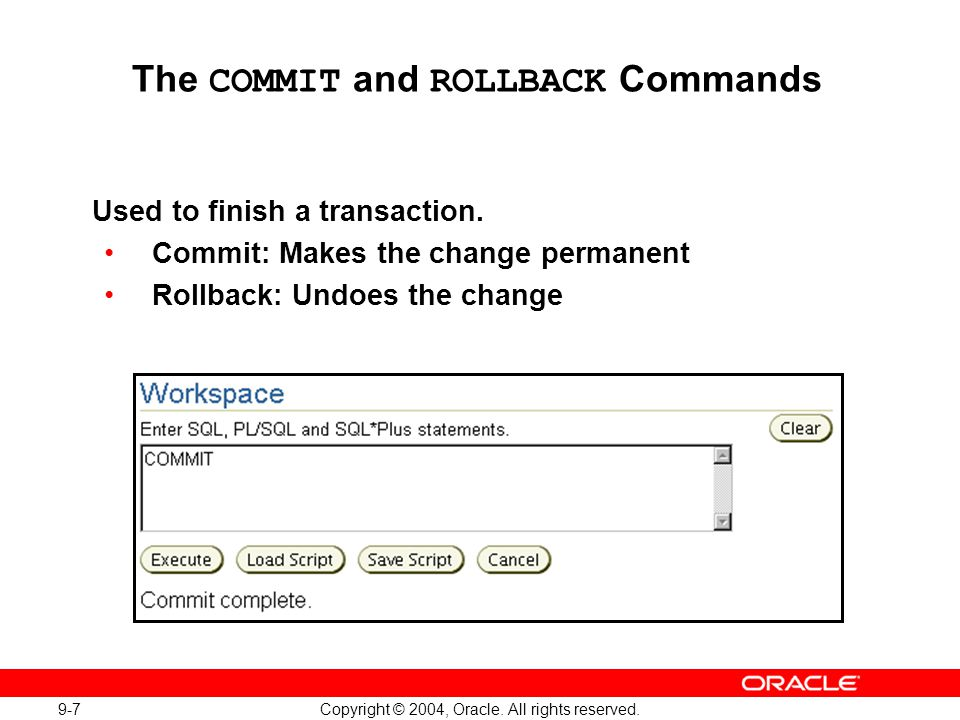 9-28 Copyright © 2004, Oracle. All rights reserved. Loading Data with SQL*Loader Full Notes Page