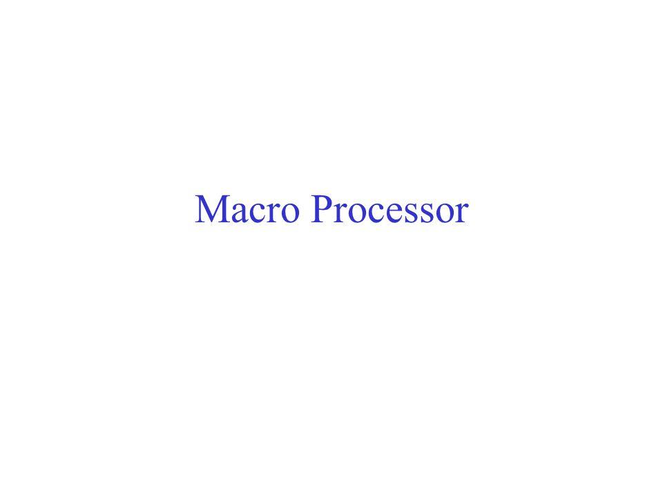 Macro Processor