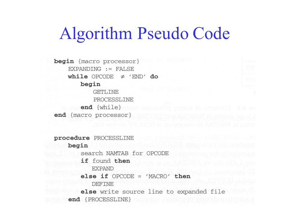 Algorithm Pseudo Code