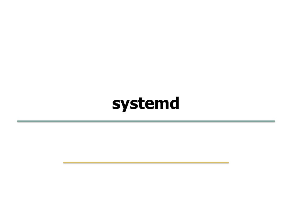 Embedded Software Lab. @ SKKU 43 20 systemd