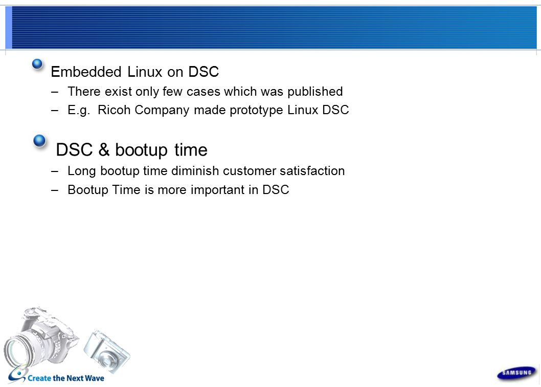 Embedded Linux on DSC –There exist only few cases which was published –E.g.