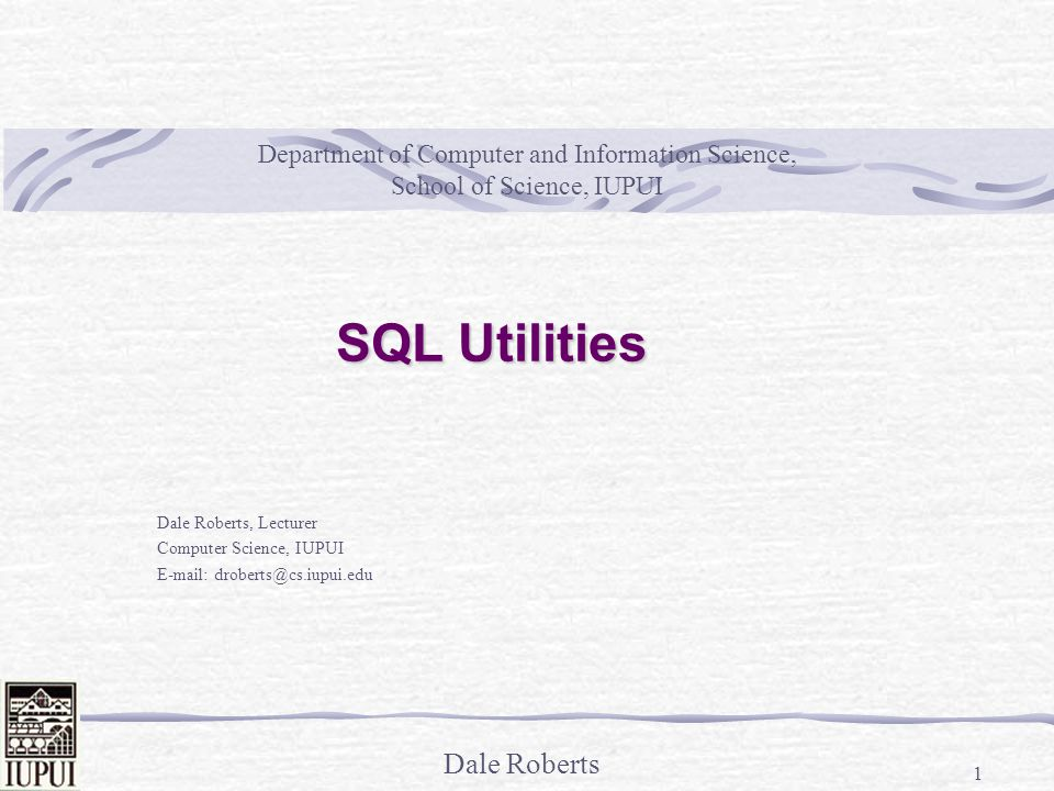 Dale Roberts 2 SQL Utilities 1.SQL*Loader 2. Data Pump Export and Import 3.