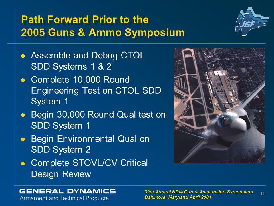 14 39th Annual NDIA Gun & Ammunition Symposium Baltimore, Maryland April 2004 39th Annual NDIA Gun & Ammunition Symposium Baltimore, Maryland April 20