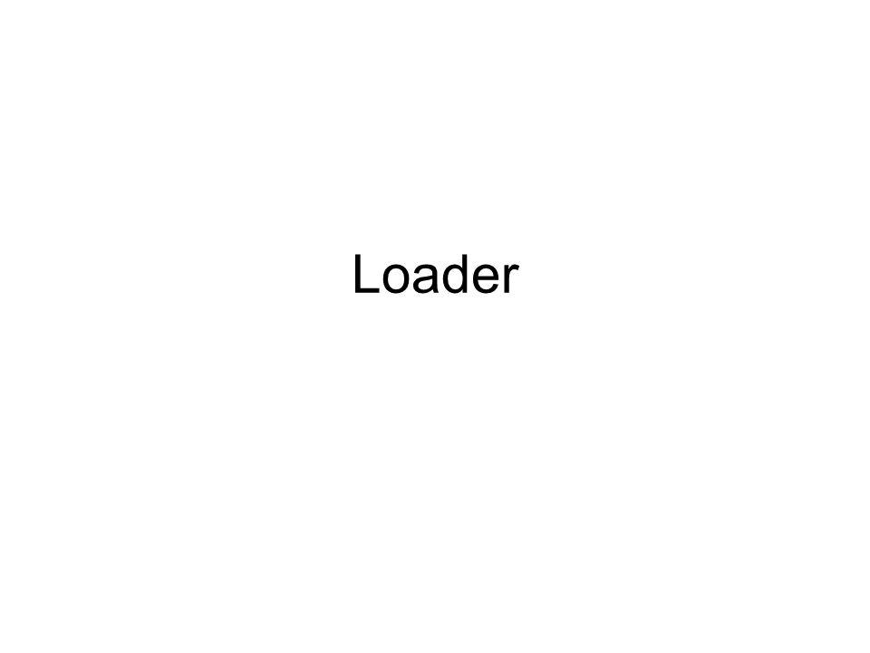 Role of Loader Source Program Translator Object Program Loader Object program ready for execution Memory Translator – Assembler/Compiler