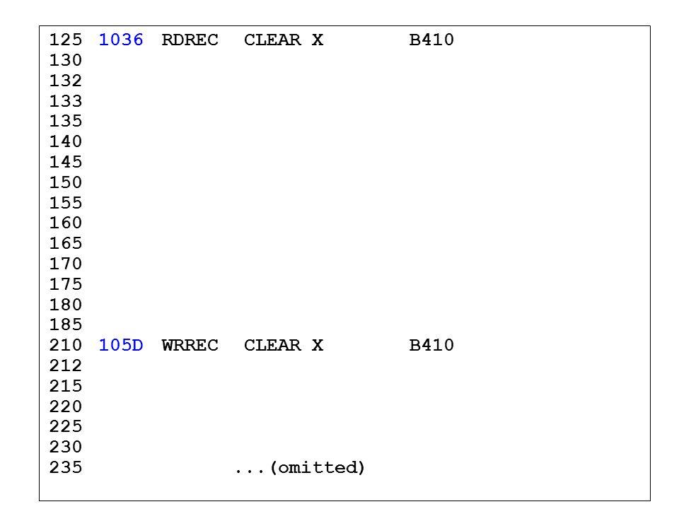 1251036RDREC CLEAR XB410 130 132 133 135 140 145 150 155 160 165 170 175 180 185 210105DWRREC CLEAR XB410 212 215 220 225 230 235...(omitted)