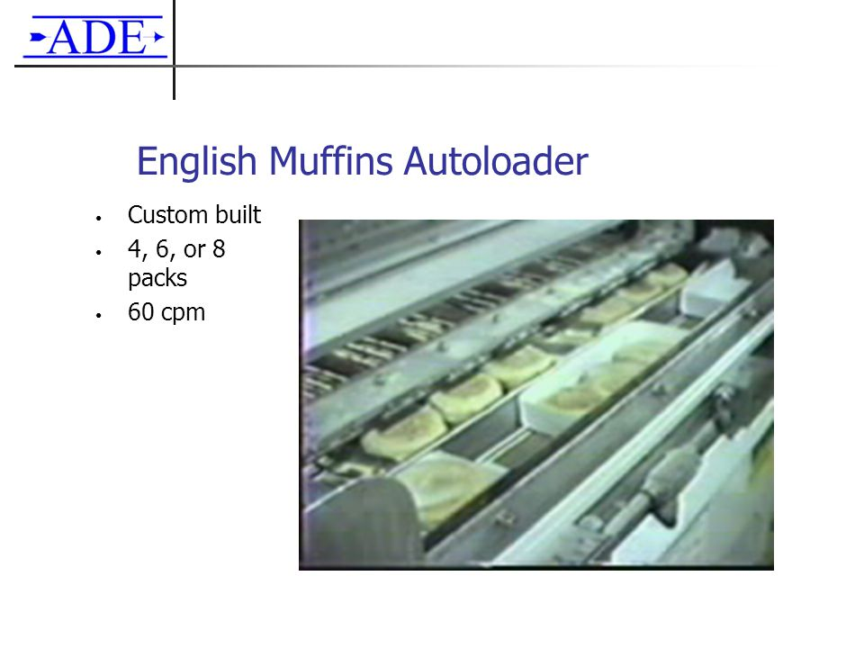 English Muffins Autoloader Custom built 4, 6, or 8 packs 60 cpm