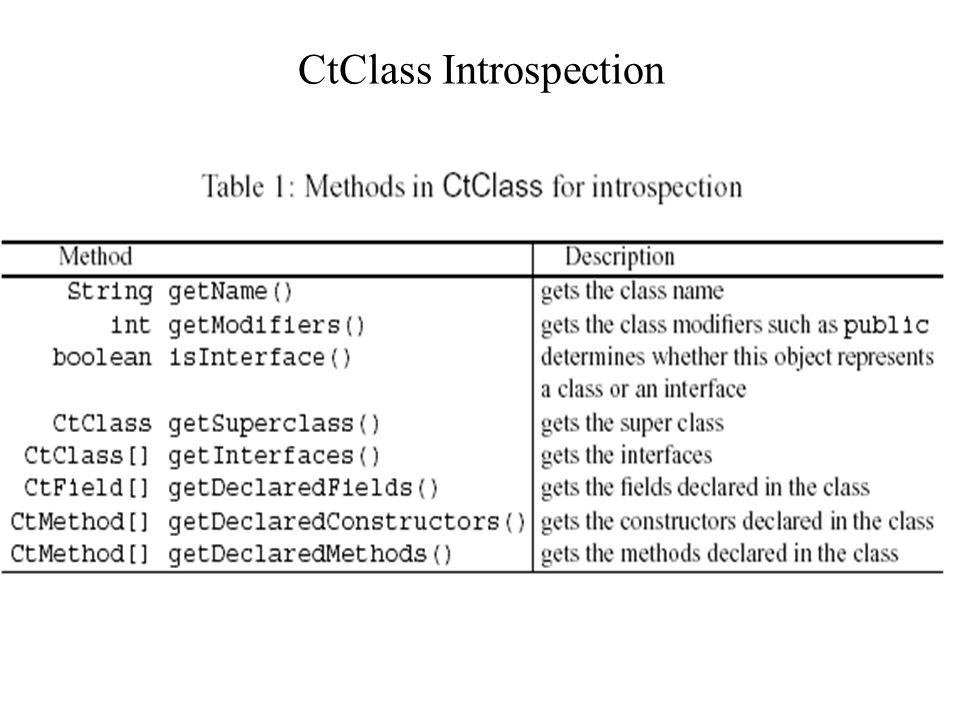 CtClass Introspection