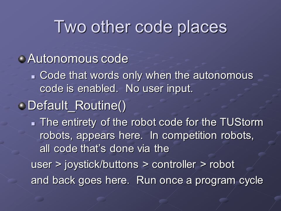 Now for some quirks Robot power != constant.