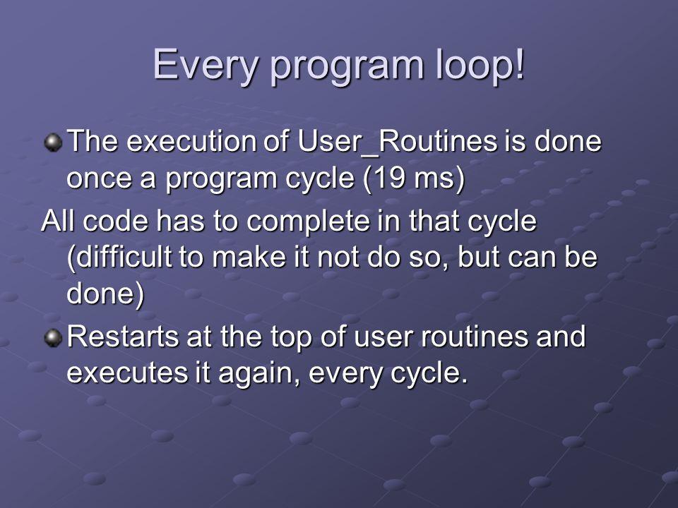 Every program loop.