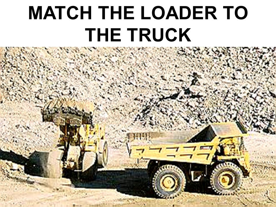 MATCH THE LOADER TO THE TRUCK