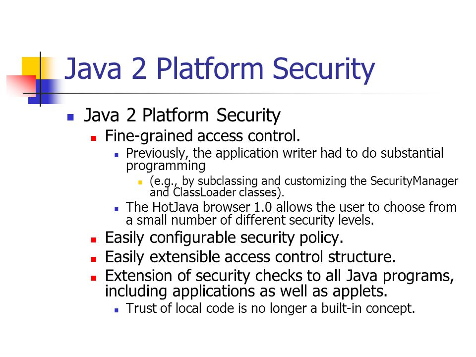 Java 2 Platform Security