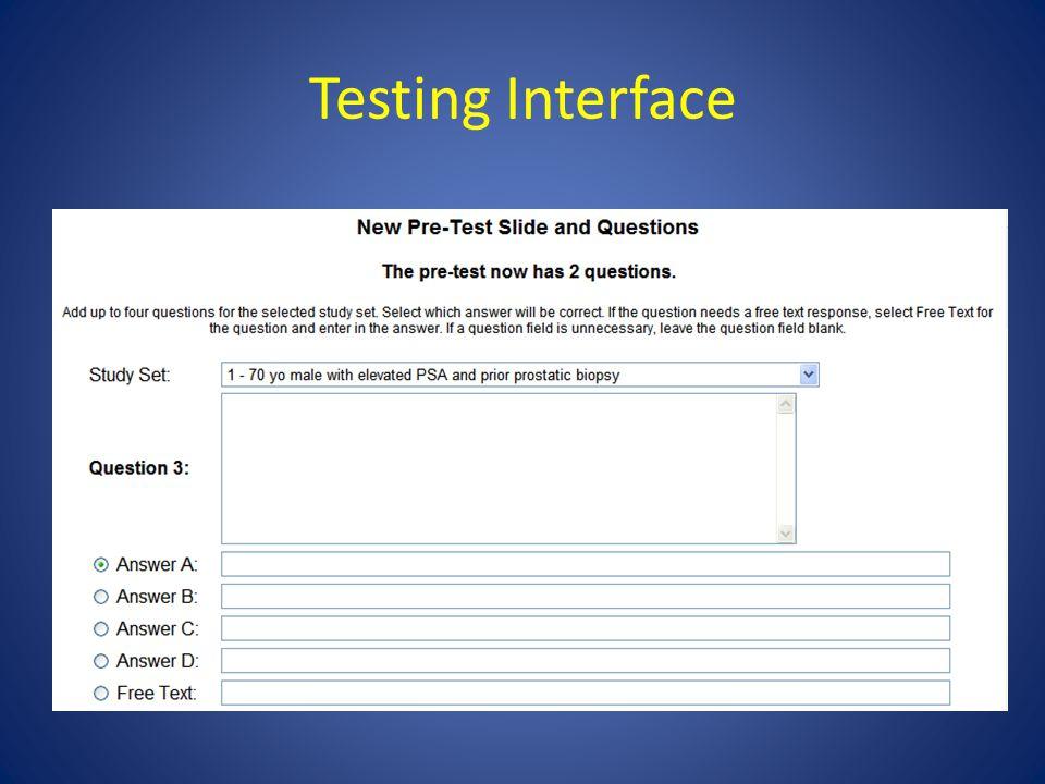 Testing Interface