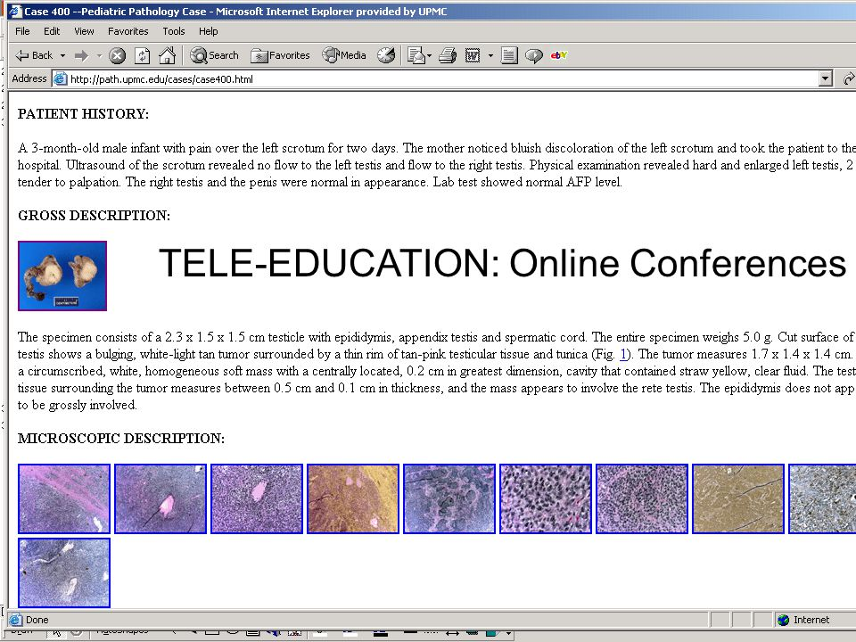 TELE-EDUCATION: Online Conferences