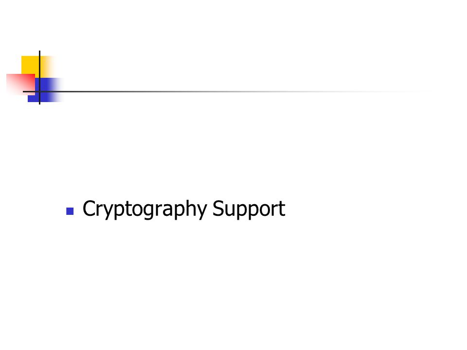 Cryptography Support