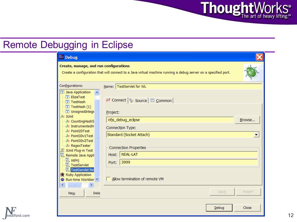 12 Remote Debugging in Eclipse