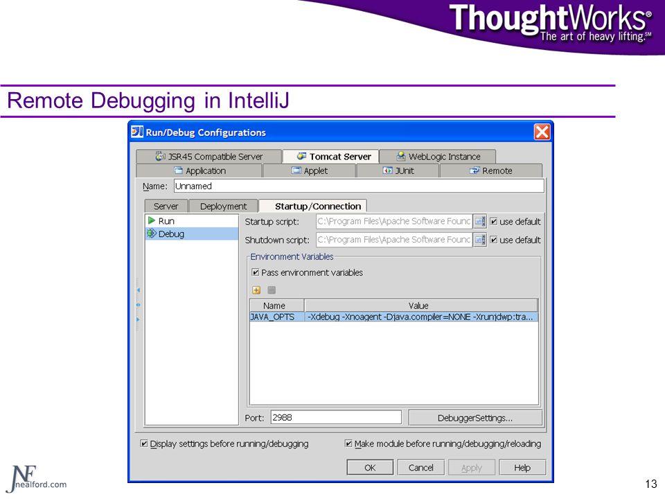 13 Remote Debugging in IntelliJ