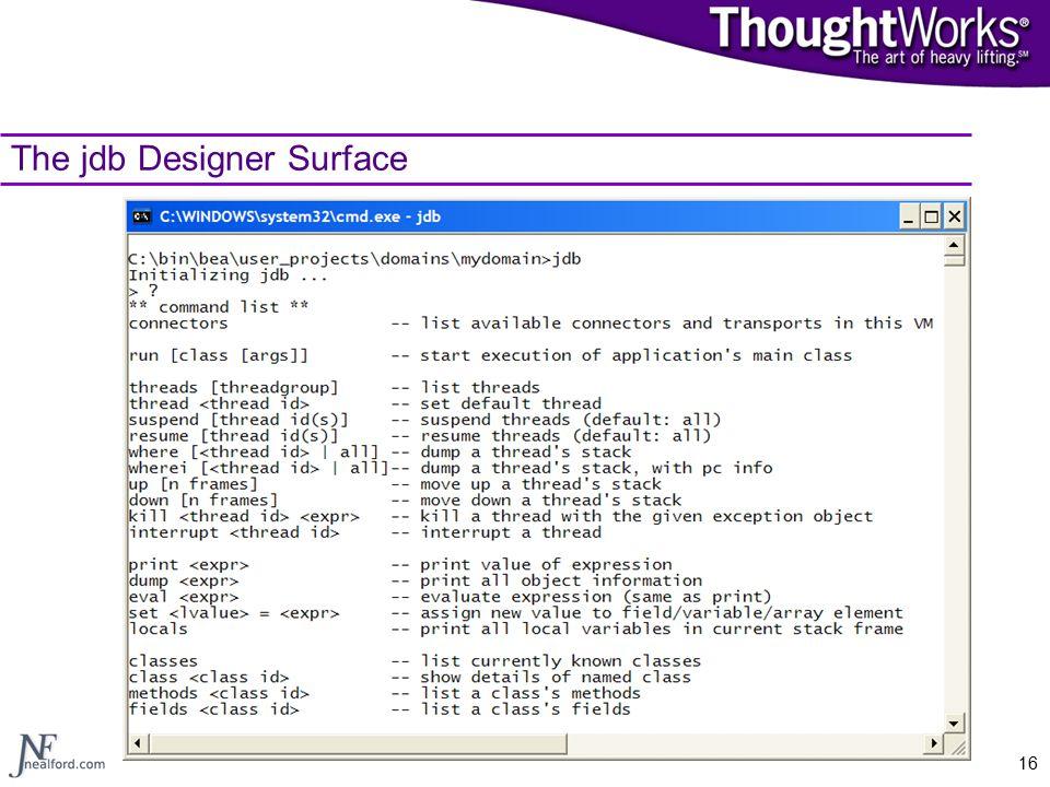 16 The jdb Designer Surface