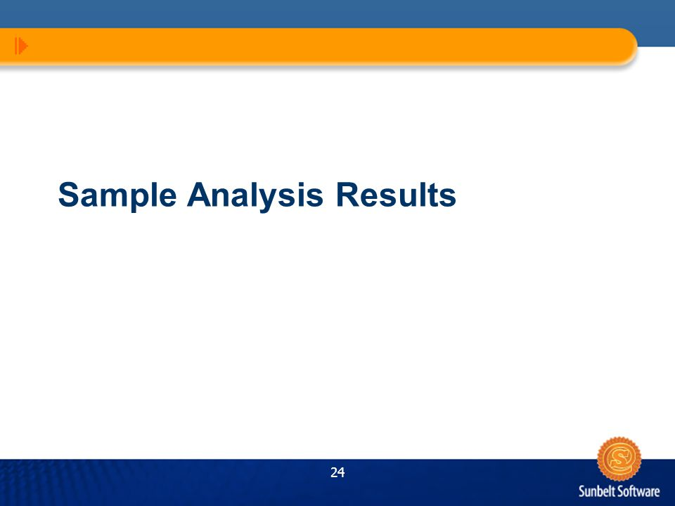 24 Sample Analysis Results