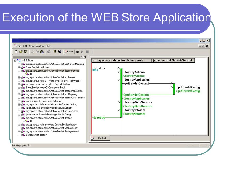 Execution of the WEB Store Application