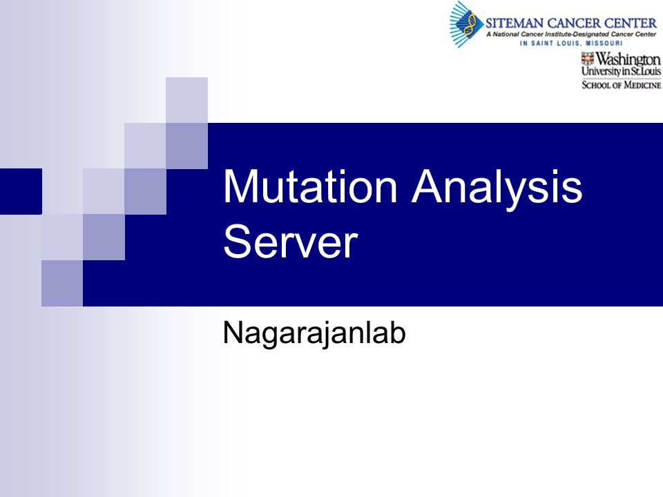 Mutation Analysis Server Nagarajanlab