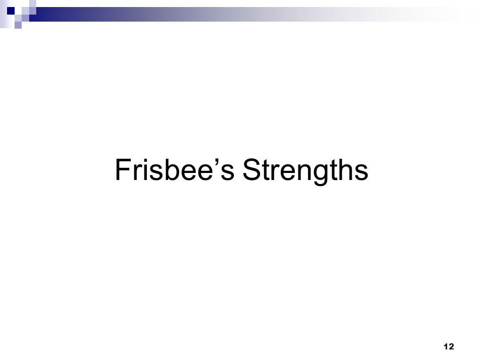 12 Frisbee's Strengths