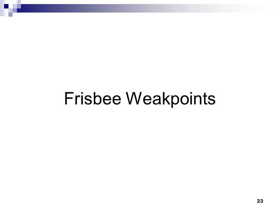 23 Frisbee Weakpoints