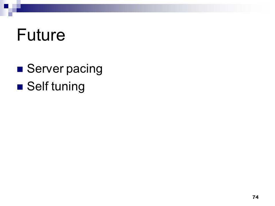 74 Future Server pacing Self tuning