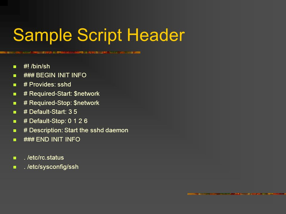 Sample Script Header #.