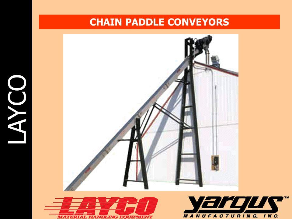 LAYCO CHAIN PADDLE CONVEYORS