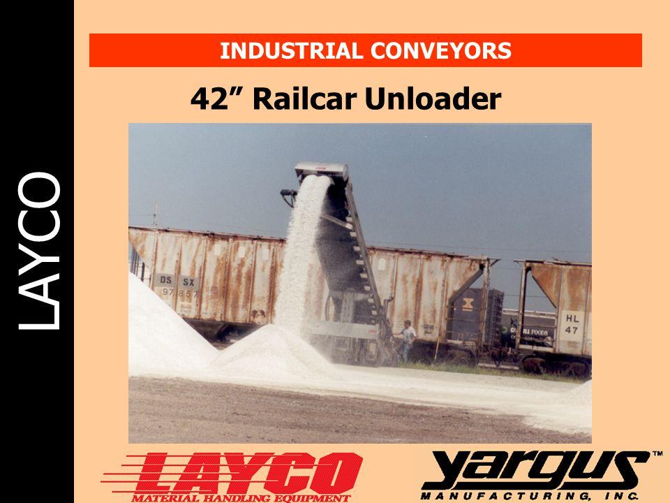 "LAYCO INDUSTRIAL CONVEYORS 42"" Railcar Unloader"